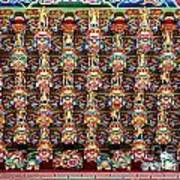 Richly Decorated Temple Ceiling Art Print