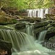 Ricketts Glen Waterfall Cascades Art Print