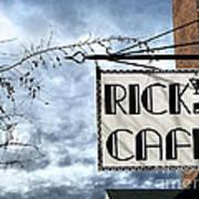 Ricks Cafe Art Print