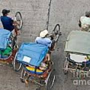 Rickshaw Driver - Bangkok Art Print