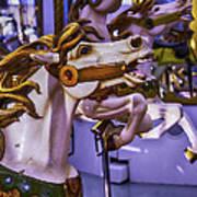 Ride The Wild Carrousel Horses Art Print