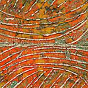 Ridges Encaustic Art Print