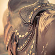 Riding The Saddle Again Art Print