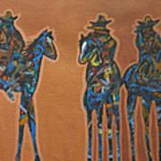 Riding Three Art Print