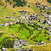 Riederalp Switzerland With Golf Course Art Print