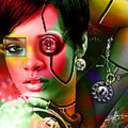Rihanna Over Rihanna Art Print