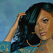 Rihanna Painting Art Print
