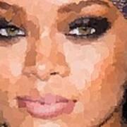 Rihanna Portrait Art Print