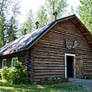 Rika's Barn In Big Delta Historical Park-ak  Art Print