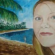 Rincon Girl Art Print by Frank Hunter