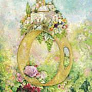 Ring And Rose Art Print
