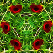 Ring Of Poppies Art Print