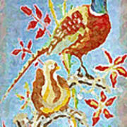 Ringneck Pheasants Art Print