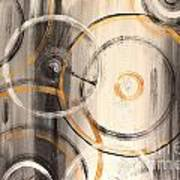 Rings Of Gold Abstract Painting Art Print