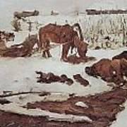 Rinsing Linen On The River 1901 Art Print