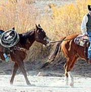 Rio Grande Cowboy Art Print