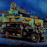 Rio Grande Homage 1950  Gas Station And Vehicle C.1935 Art Print