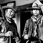Rio Lobo, From Left, John Wayne, George Art Print