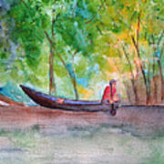 Rio Negro Canoe Art Print