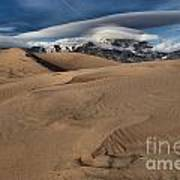 Ripples Dunes And Clouds Art Print