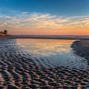 Ripples In The Sand Art Print by Debra and Dave Vanderlaan