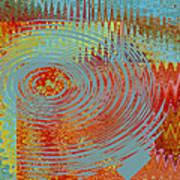 Rippling Colors No 1 Art Print
