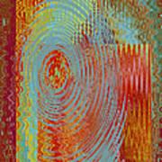Rippling Colors No 3 Art Print