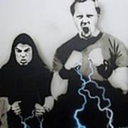 Rising Metallic Storm Art Print