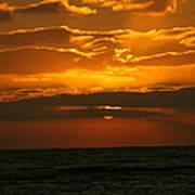 Rising Sun In The Clouds  Art Print