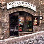 Ristorante La Fornaina. Urbino Art Print