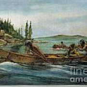 Rival Fur Traders  Art Print
