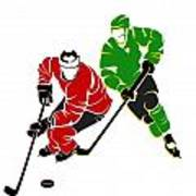 Rivalries Blackhawks And North Stars Art Print