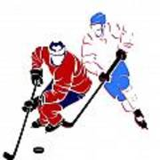 Rivalries Canadiens And Nordiques Art Print