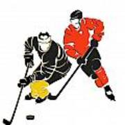 Rivalries Penguins And Flyers Art Print