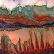 River Aflame Art Print