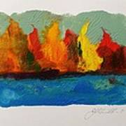 River Bank In Color Art Print