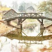 River Bridge Landscape Art Print