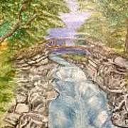 River Bridge Art Print