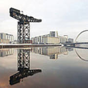 River Clyde Reflections Art Print