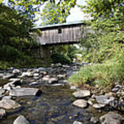 River Gorge Covered Bridge Art Print by Jim  Wallace