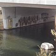 River Graffiti Art Print