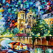 River In Paris Art Print