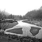River In The Rain Art Print by Gordon  Grimwade