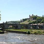 River Main With Fortress - Wuerzburg Art Print