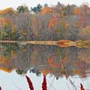 River Mirror Autumn Art Print