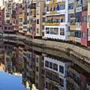 River Onyar Girona Spain Art Print