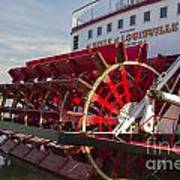 River Paddle Steamer Art Print