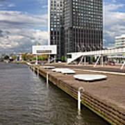 River Promenade In Rotterdam Art Print