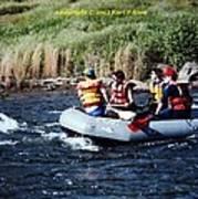 River Rafting Art Print