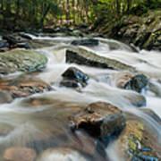 River - Rapids Above Kent Falls Art Print